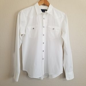 Vintage Ralph Lauren White Slim Fit Shirt Size 12